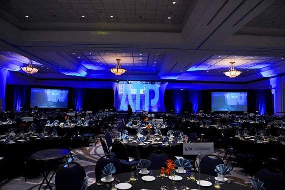A photo of an ATP Gala ballroom from previous year