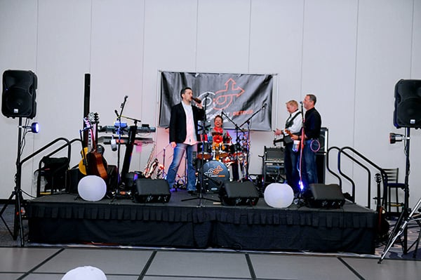 The band at one of our events