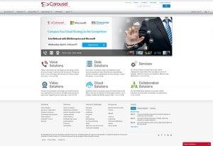 screenshot of carousel industries website