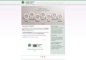 screenshot of celtic testing experts website
