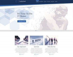 screenshot of the cumberland group's website