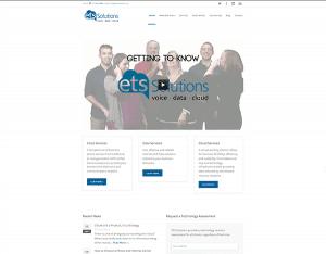 screenshot of ets solutions' website