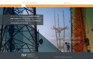 screenshot of friend, haudak, and harris' website