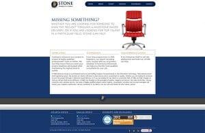 screenshot of stone resource group's website