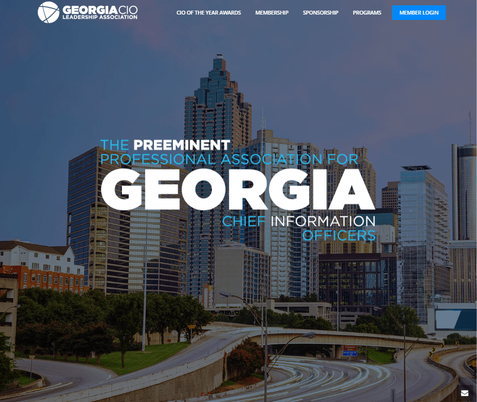 screenshot of the GeorgiaCIO website