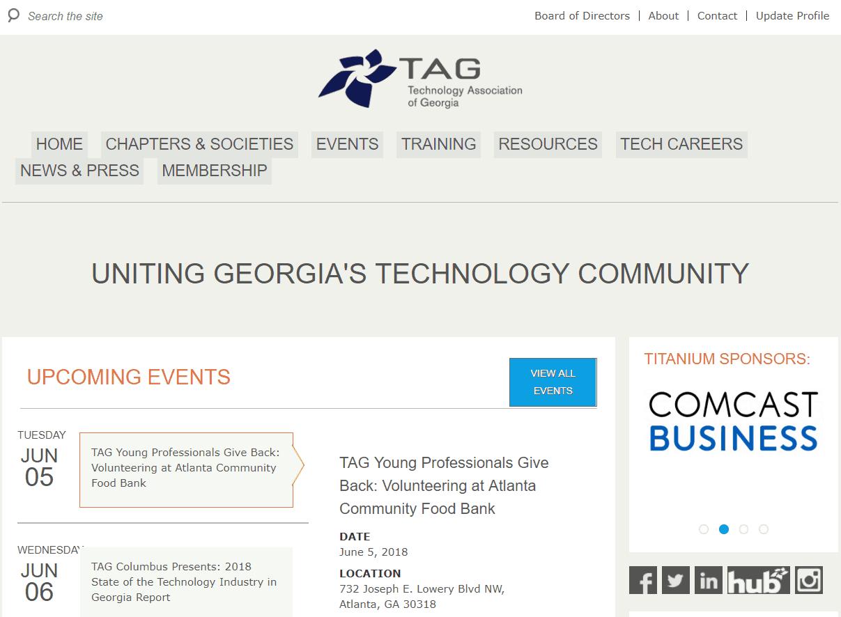 Technology Association of Georgia Website